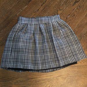 Pleated Plaid short skirt